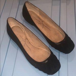 JESSICA SIMPSON ballet flats, black